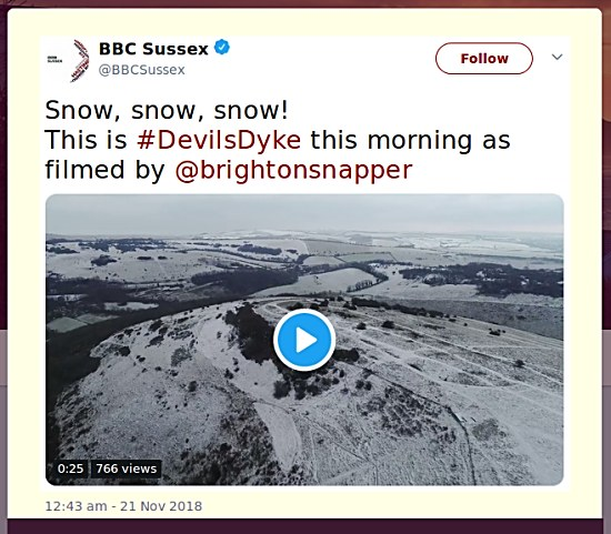 Snow on the Dyke