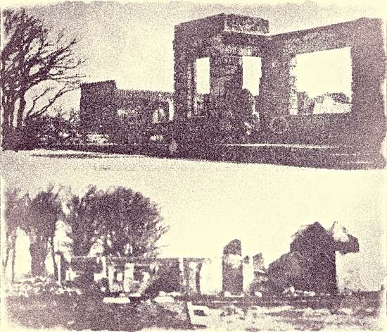 The ruins of the Dyke Park Hotel in 1949
