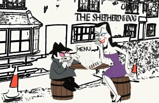 Boris and Natasha at the Shepherd and Dog