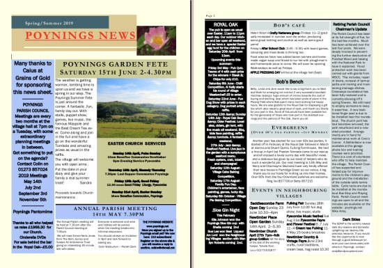 Poynings News Spring Summer 2019