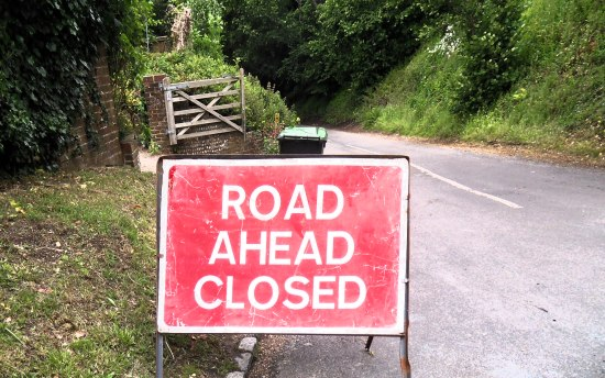 Clappers Lane closed allegedly