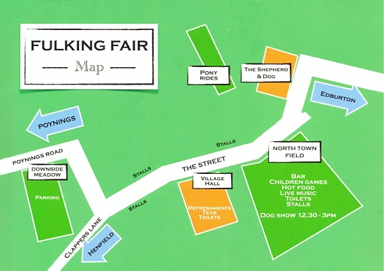 Fulking Fair map 2019