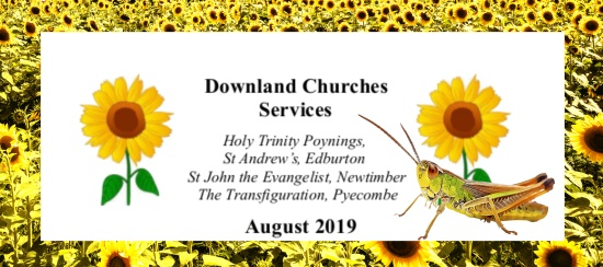 Downland Churches Services August 2019