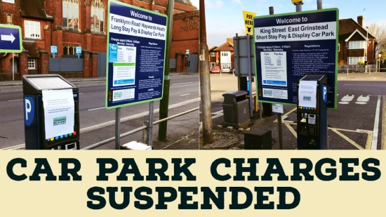 MSDC car park charges suspended